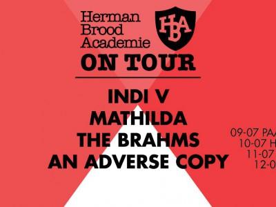 Herman Brood Academie On Tour langs Paard, Hedon, Mezz en Paradiso