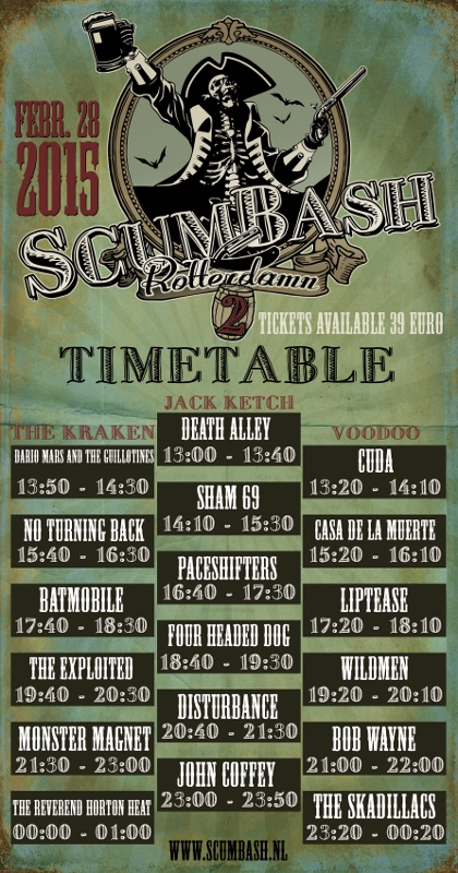 Scumbash timetable 2