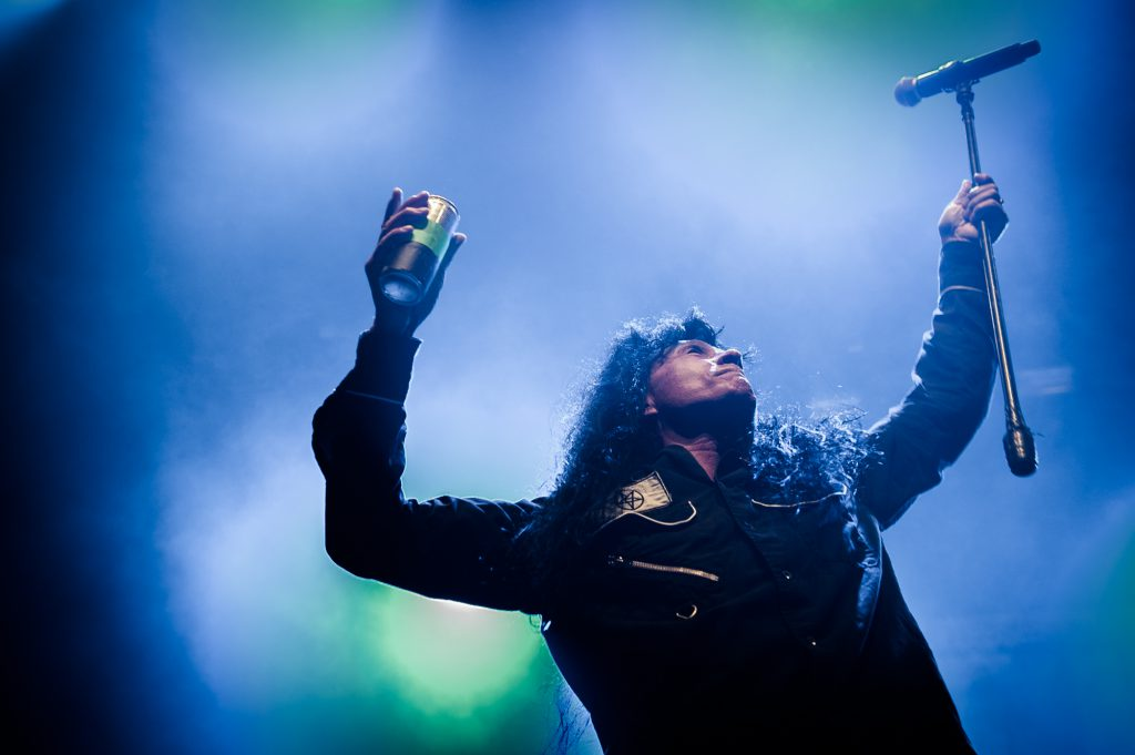 Joey Belladonna van Anthrax, foto; William van der Voort
