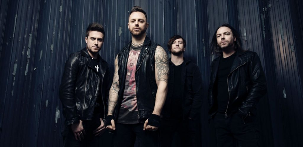 Bullet For My Valentine met rechts Michael 'Padge' Paget
