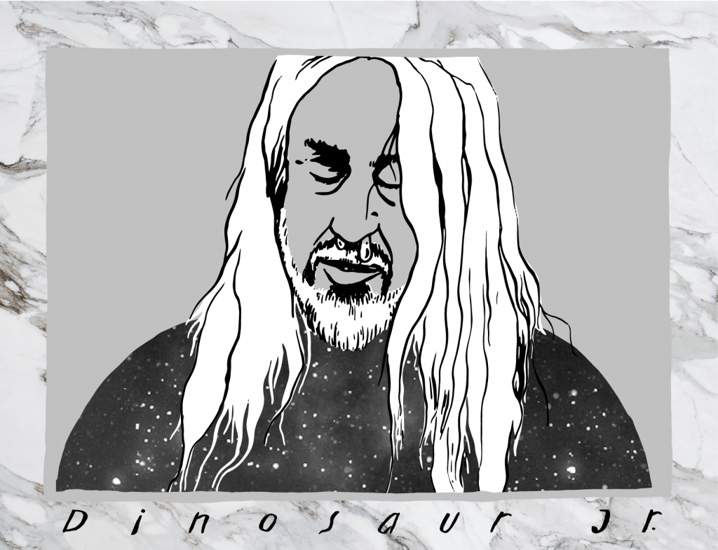 J. Mascis, illustratie Sjors Driessen (aka Topsy Turvy Magic)