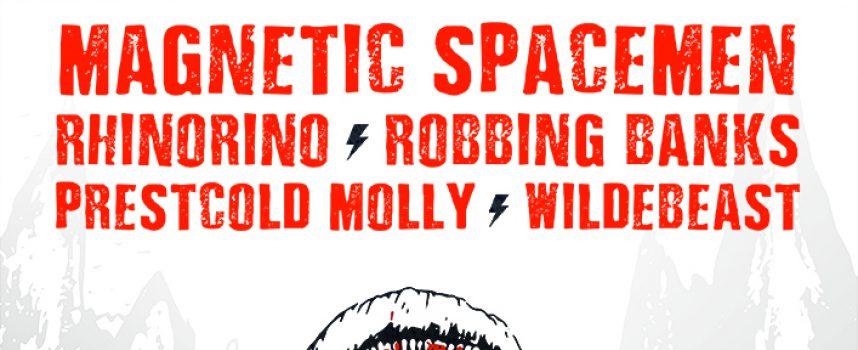 Beastfest! Beestachtig feest met Magnetic Spacemen, Rhinorino, Robbing Banks & fuifnummer Wildebeast
