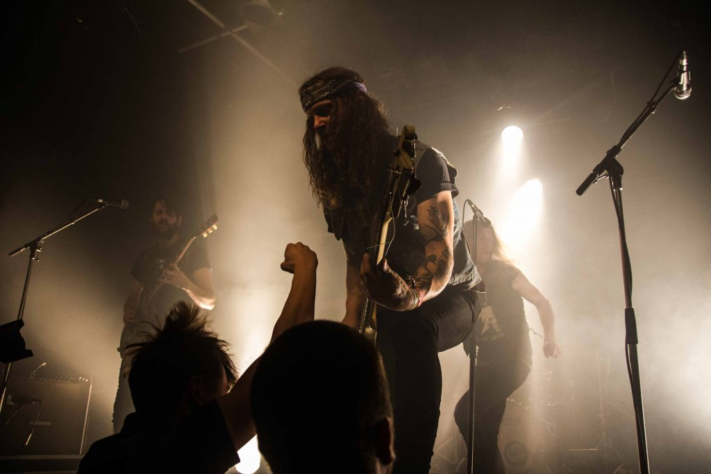 Dennis met Death Alley op Eurosonic 2017, foto: Tim van der Steen