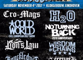 Eerste namen The Sound Of Revolution met Cro-Mags, H2O, No Turning Back ea