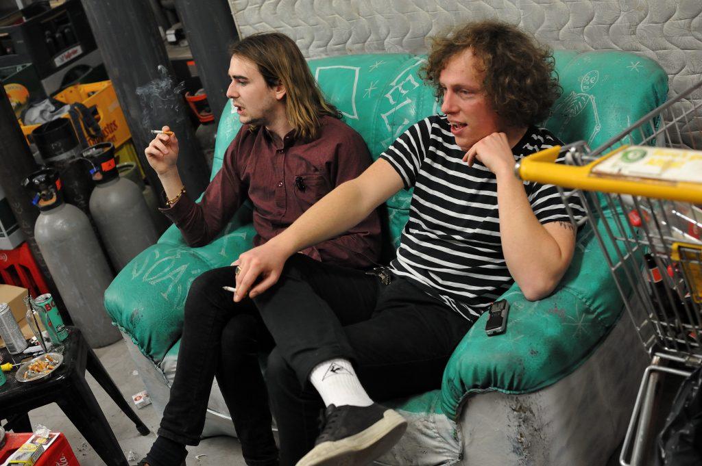 Tobias (l) en Jeroen van Iguana Death Cult, foto Christel de Wolff