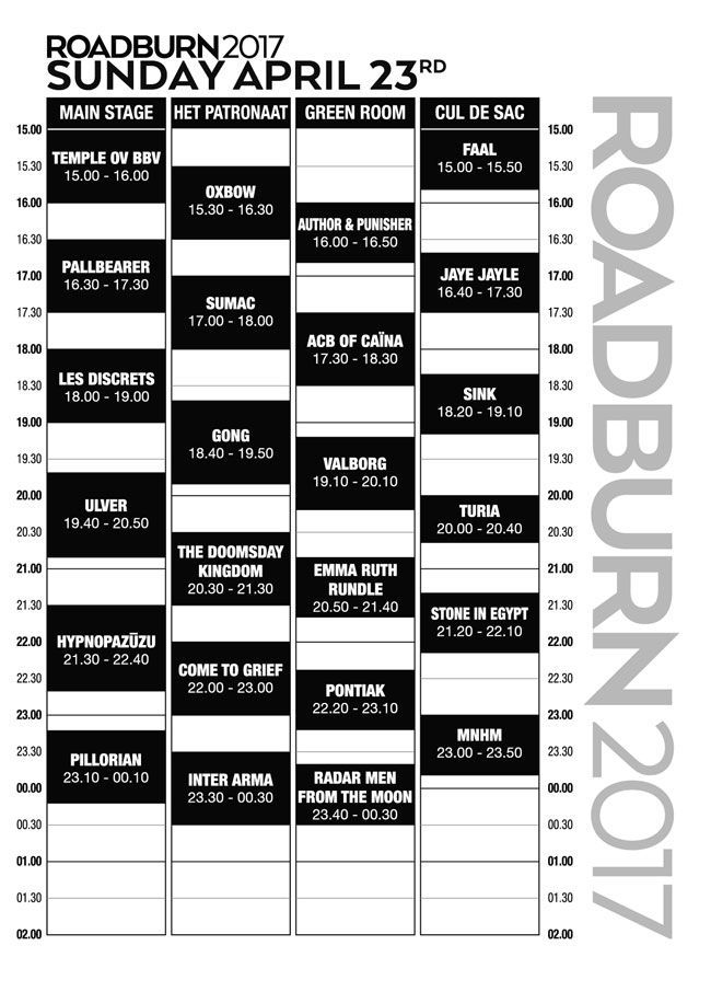 Roadburn-2017-schedule-23-sunday