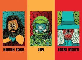 Heavy psych Burnout: Harsh Toke, JOY & Sacri Monti 3-way split op Tee Pee