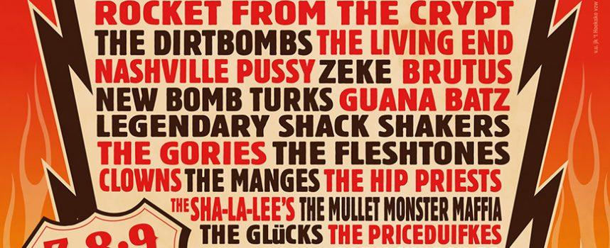 Brutus, Bark, Speedözer, Clowns en Legendary Shack Shakers completeren Sjock Festival