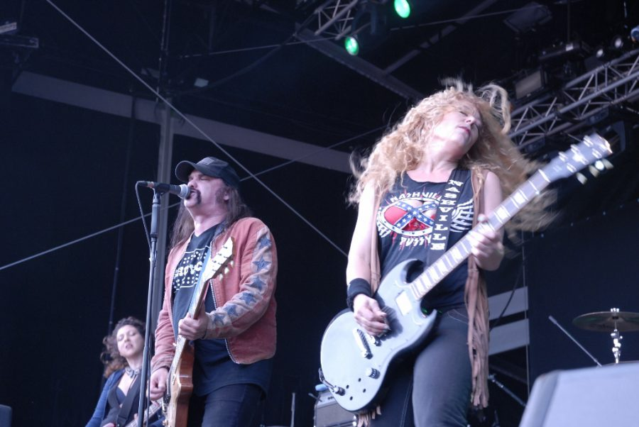 Nashville Pussy op Sjock, foto Timothy Aarbodem
