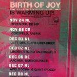 warming up TOUR Birth Of Joy
