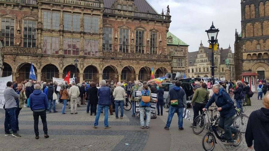 Demonstratie in Bremen