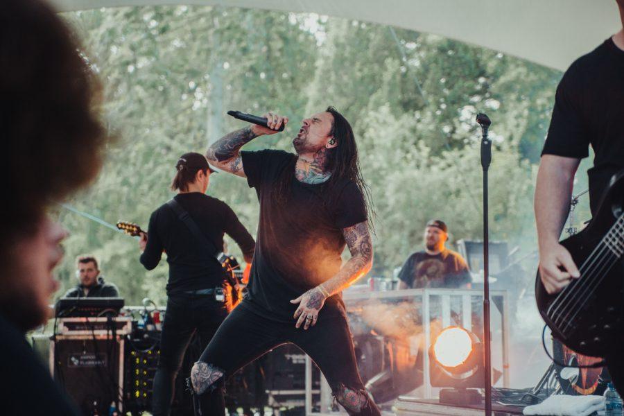 Thy Art is Murder op Fortarock 2018, foto Dani Silvia