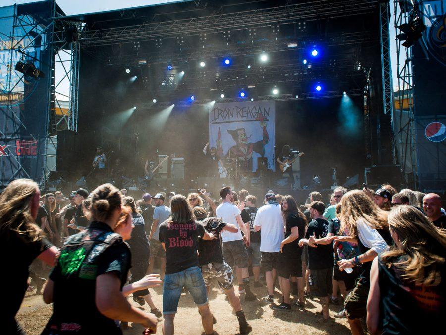 Iron Reagan op Dynamo Metal Fest 2018, foto Roy Wolters