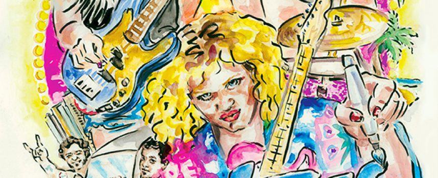 Kiki verstript De Giletjes: Braziliaanse tour vastgelegd in stripboek