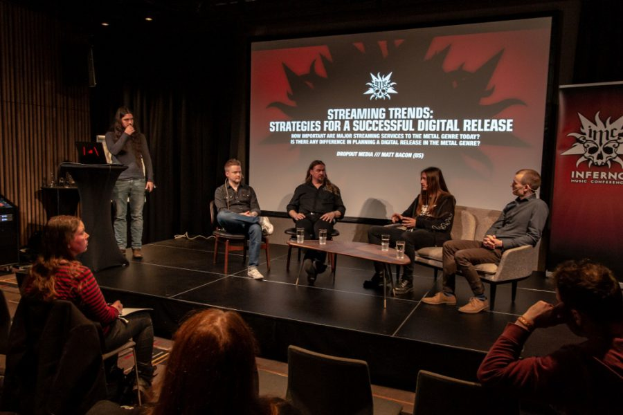 The panel on streaming, during Inferno Music Conference, photo Mark van Schaick