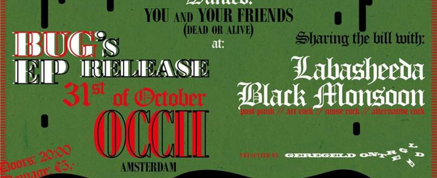 Fuzzrockers BUG presenteren EP in OCCII met Black Monsoon & Labasheeda