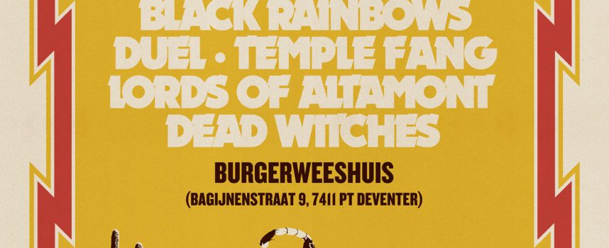 Festivaltip: Heavy Psych Sounds in Burgerweeshuis met Black Rainbows, Mondo Generator, Temple Fang, Duel