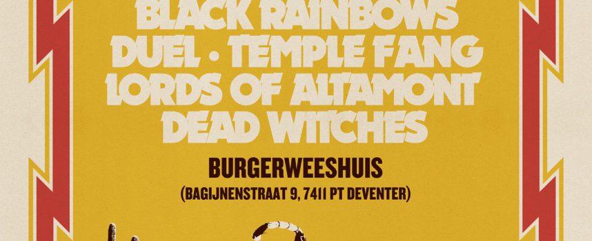 Festivaltip: Heavy Psych Sounds in Burgerweeshuis met Black Rainbows, Mondo Generator, Temple Fang, Duel